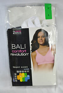 7ebb80e251b Bali Comfort Revolution Wirefree Bra with Smart Sizes 2-Pack S L New ...