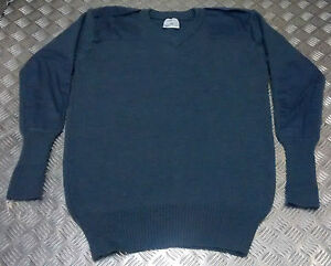 Genuine-British-RAF-Royal-Air-Force-Wool-Jumper-Pullover-V-Neck-All-Sizes-NEW