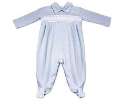 3-6 NWT Dakomoda Baby Boy Blue Overall Footie Pima Cotton Peru Kissy 0-3 6-9