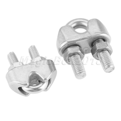 Heavy Duty Wire Rope Clamp 3-5mm Cable Grip Metal Wire U Bolts Fixing 1//4//10pcs