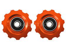 New MTB Road Bike Derailleur Jockey Wheel Solid Pulley Shimano 11T Orange