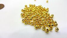 200 pcs 4mm Gold Plated Spacer Beads - A6721