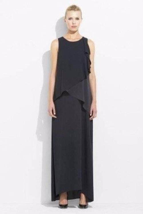 988 NWT MAX AZRIA by BCBG LIGHTWEIGHT CREPE LONG DRESS GOWN XXS