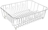Rubbermaid Sink Ware Large Dish Drainer Rack Chrome 6032-ma