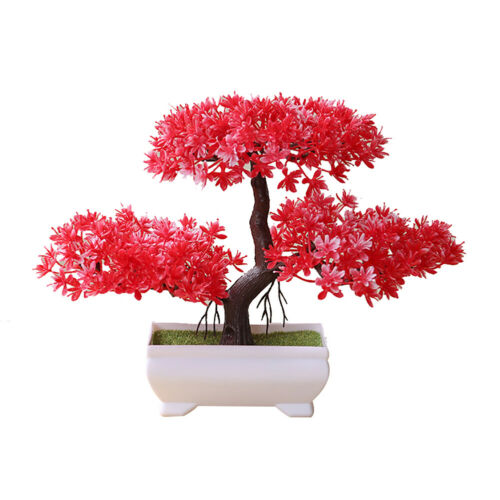Welcoming Pine Bonsai Simulation Artificial Potted Plant Ornament Home Decor