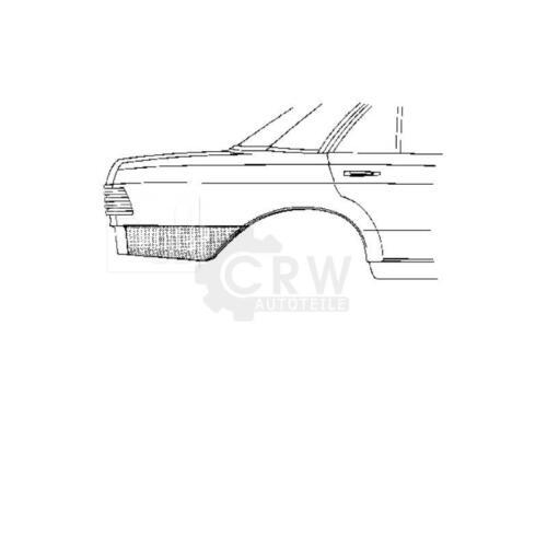 76-85 XPD Seitenwand hinten rechts Mercedes W123 Bj