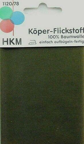 Köper-Flickstoff Oliv-dunkel 11,5 x 40 cm zum Aufbügeln   1120//78