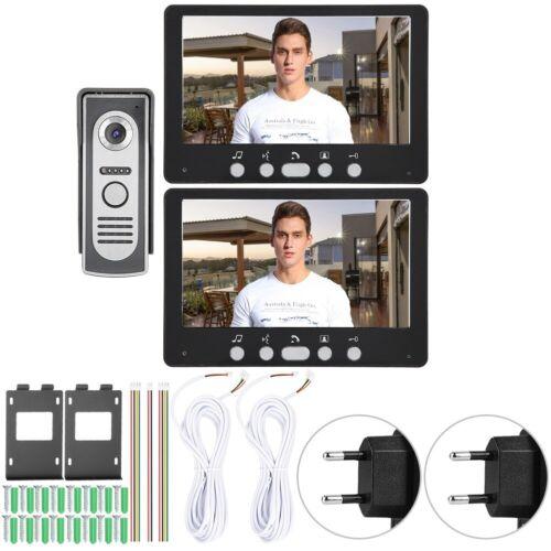 """7 /""""HD LCD couleur vidéo sonnette vision nocturne système d/'interphone 2 Moniteurs 815m12"""