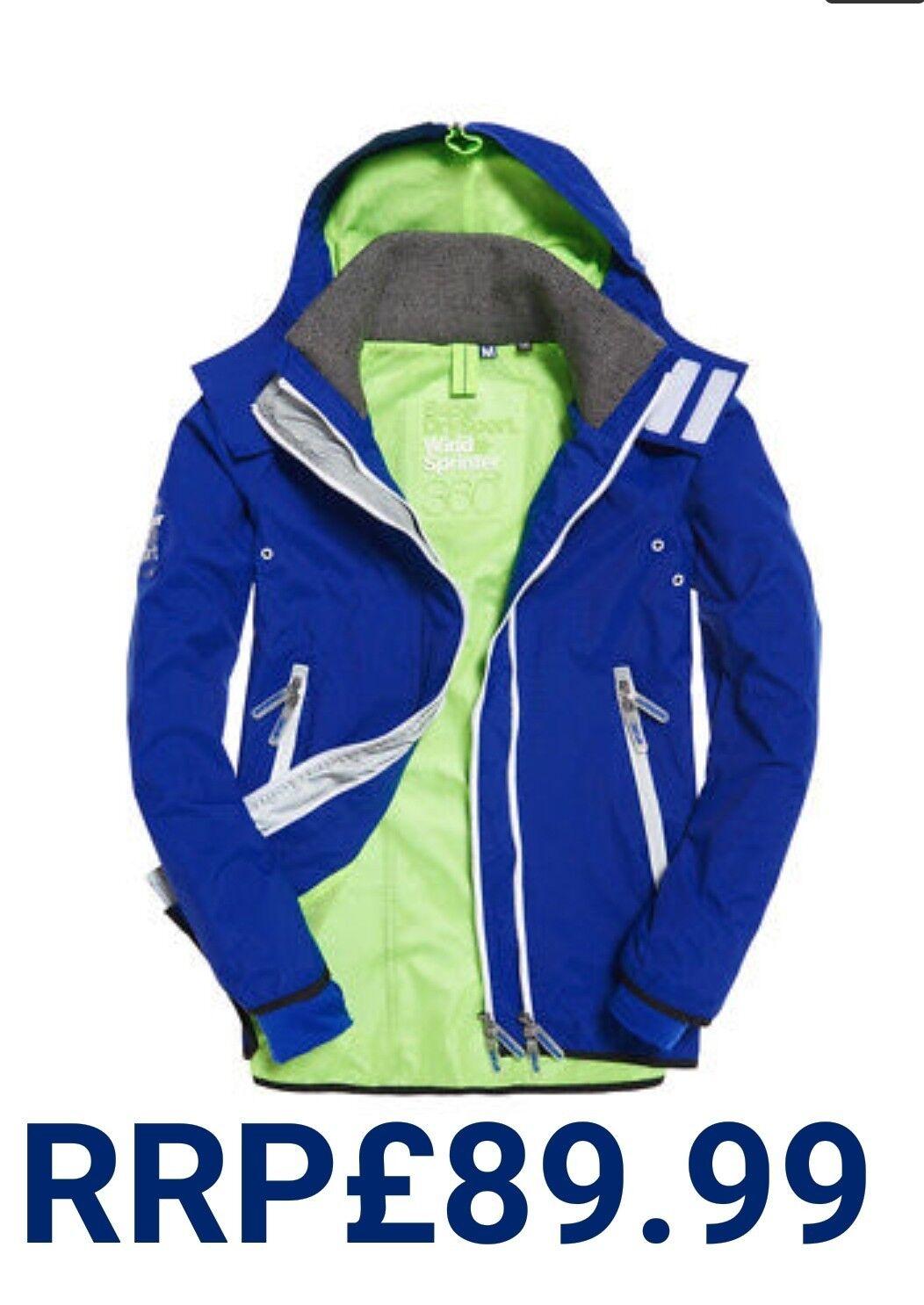 Nuevo PVP .99 Gran Tamaño 40 para hombre  de súperdry Sprint Chaqueta De Invierno Abrigo Azul Real  grandes precios de descuento