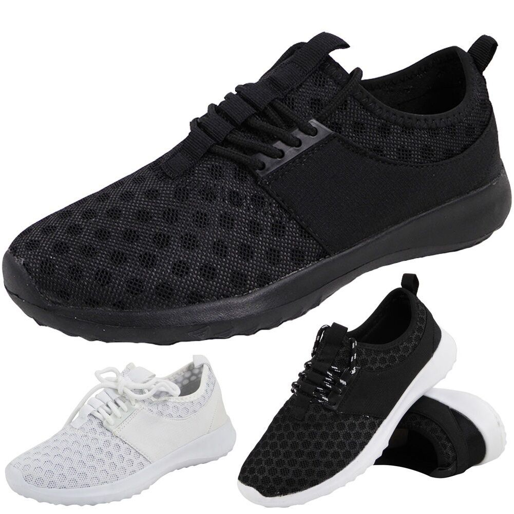 SALE ! LADIES RUNNING TRAINERS SLIP ON LACE zapatos UP FITNESS GYM SPORTS zapatos LACE Talla d00c3d