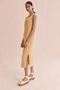 Country Road Linen Jersey Tank Dress - Cinnamon