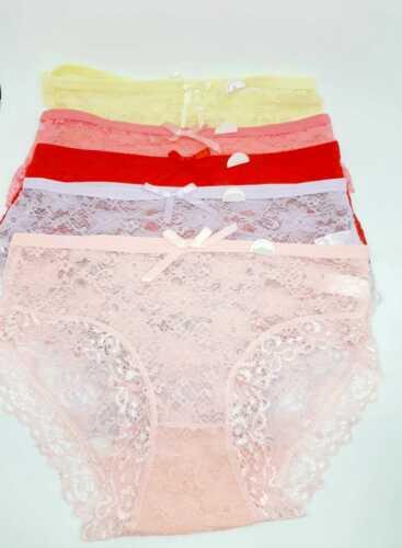 Frauen Unterwäsche 5 x Damen Pantys Unterhosen Slips Bunte Mädchen Panties Netz