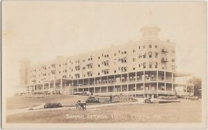 Maine-Me-Real-Photo-RPPC-Postcard-1918-POLAND-Summit-Springs-Hotel-People