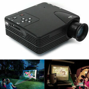 Mini home theater led lcd video projector usb vga av hdmi for Movie projector for iphone 6