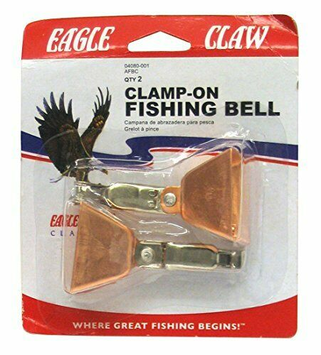 Eagle Claw Fishing Bell Clamp-On Copper 2 Per Pack