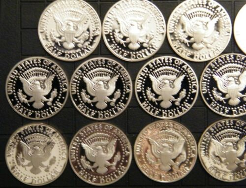 2009-S PROOF Kennedy Half Dollar Clad Coins 38 Coins US Proof Sets 1971-S