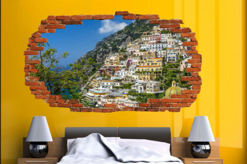 Positano  ITALY HOLIDAY MEMORIES WALL STICKER ROOM DECORATION DECAL MURAL