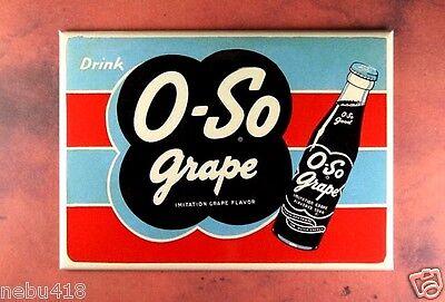 "Vintage Style Advertising Sign Fridge Magnet 2 1/2"" x 3 1/2"" O-So Grape Soda"