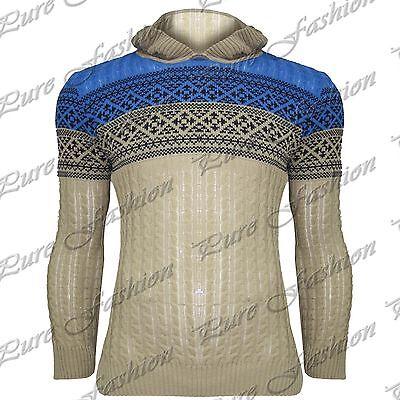 Hombre Cuello Redondo Manga Larga Suéter De Punto Cable Grueso Jersey Suéter Top