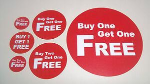 FäHig Promotion Displayständer Point Of Ausverkauf Aufkleber/ Etiketten/ Price Bogof