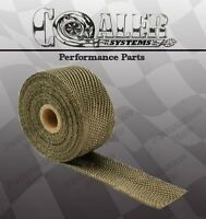 Kawasaki 2 X 50' Motorcycle Protection Header Exhaust Heat Wrap - Titanium