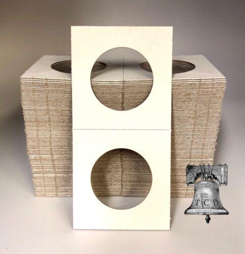500 BCW 2x2 Half Dollar Mylar Cardboard Display Coin Holder Flip Storage Case