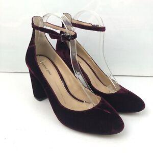 s Ankle Strap Heels Velvet Pumps