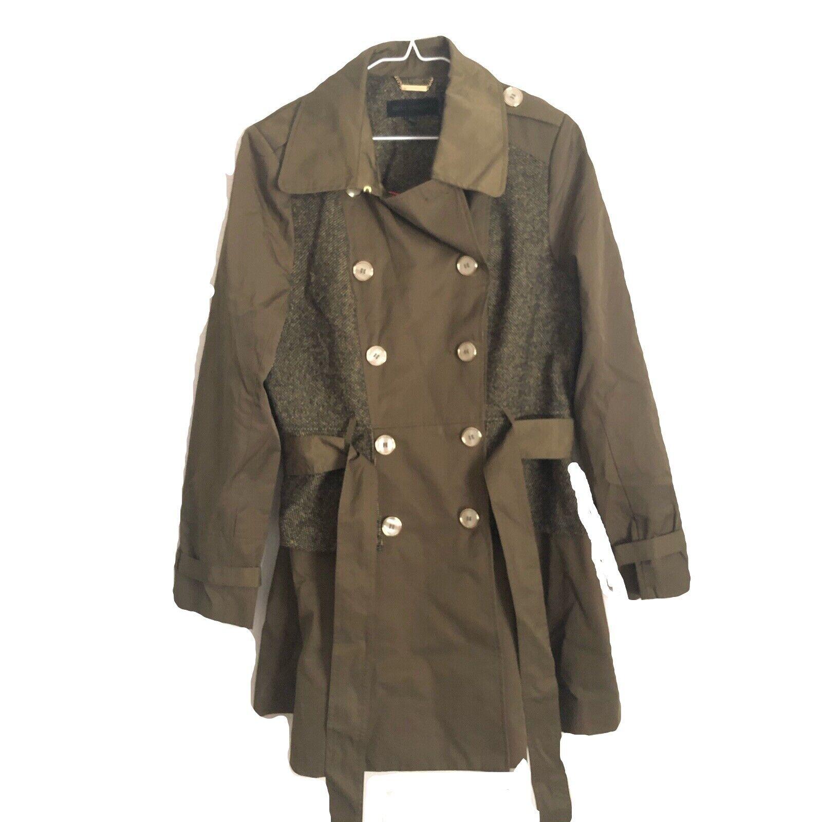 Steve Madden Women's Multi Textured Trench Coat S… - image 1