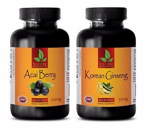 Details About Metabolism Fat Burner Diet Pills Acai Berry Korean Ginseng Combo 2b Acai