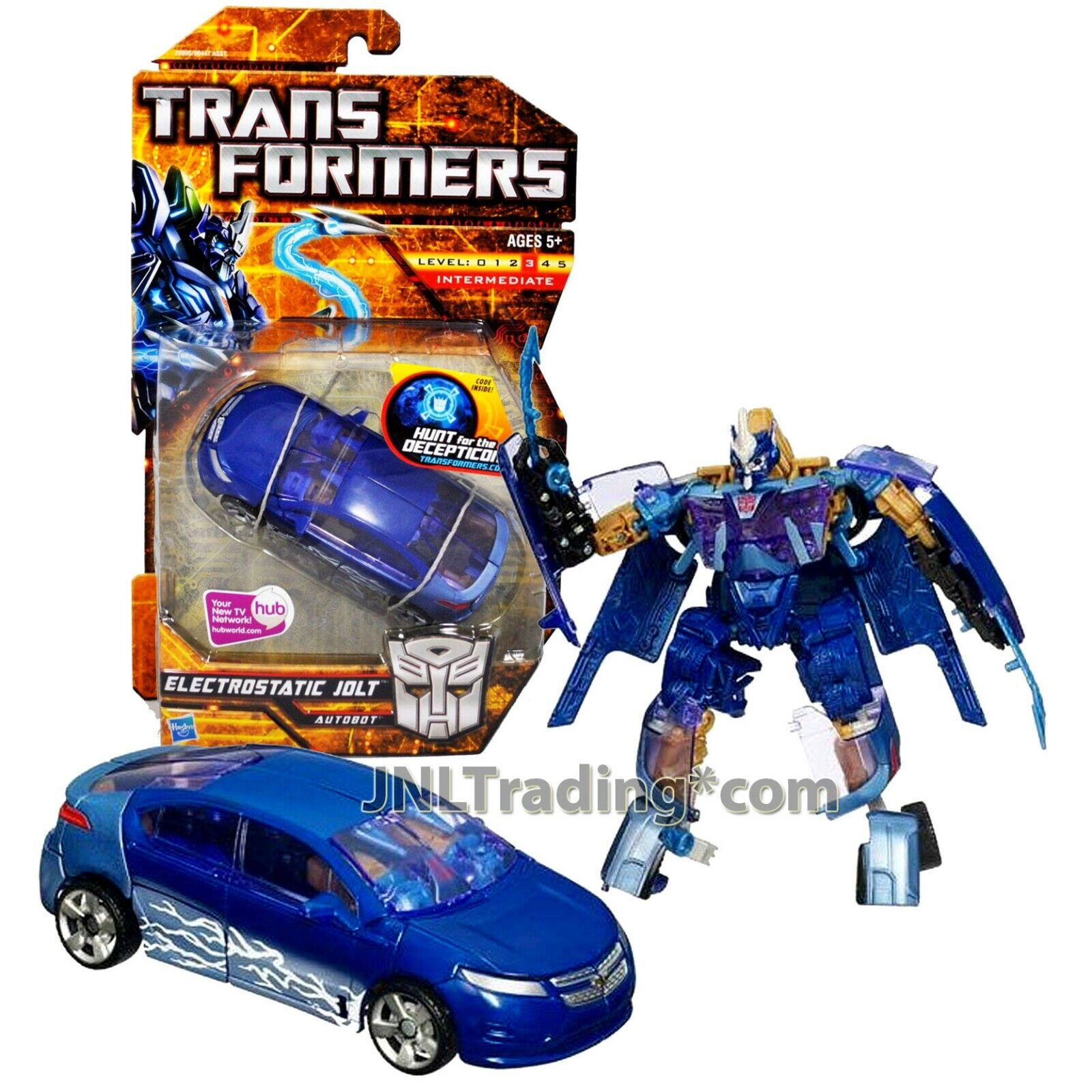 2010 Transformers Hunt for the Decepticons Deluxe classe 6 ELECTROSTATIC JOLT