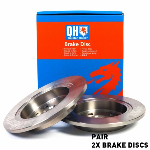 QH BDC4726 Rear Axle Solid Pair of Brake Disc