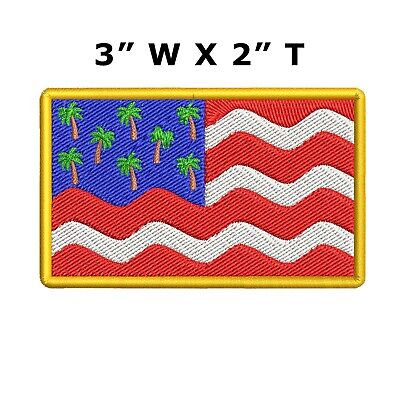 SEW ON SMALL IRON ON PATCH: HAWAII NATIONAL OLYMPIC COUNTRY FLAG