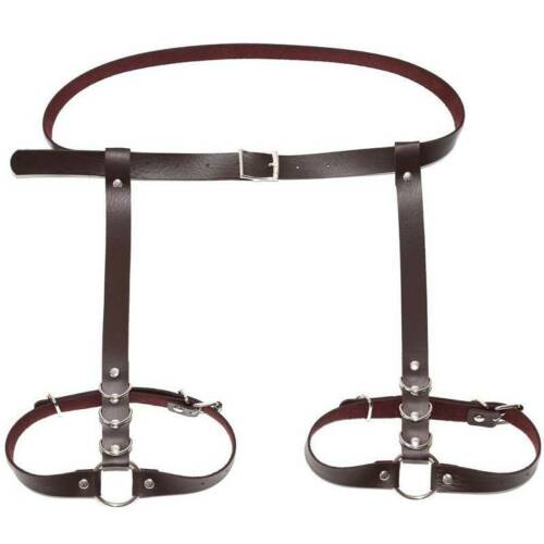 Women Belt Leg High Ring Waist Elastic Suspender Buckle Strap Clips 9L