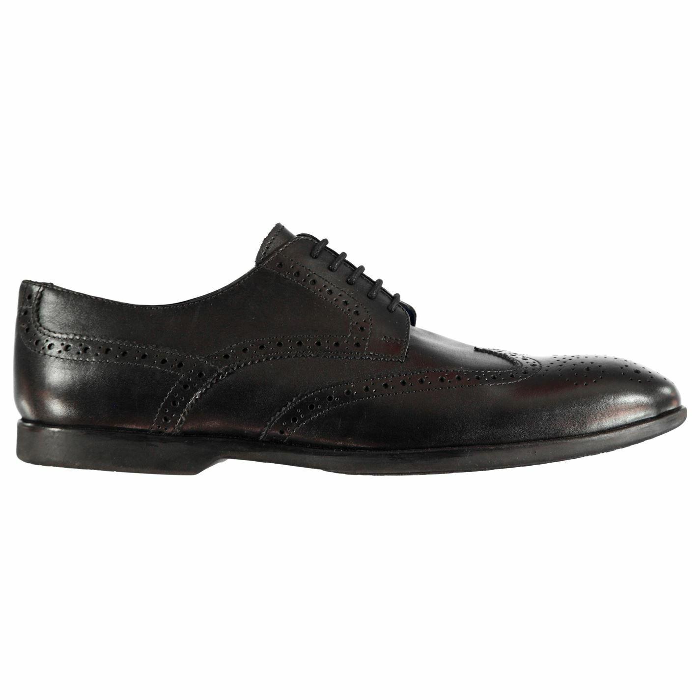 Firetrap Mens Pierce Brogue shoes Brogues Lace Up Comfortable Fit Tonal