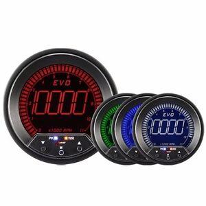 85mm-EVO-Digital-Tachometer-Gauge-LED-Blue-Red-Green-White-With-Peak-Warning