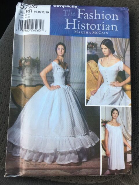Simplicity Pattern 4900 Size 20-26 Civil War Late 1800s Gowns ...