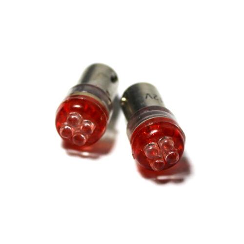 Jeep Wrangler Red 4-LED Xenon Bright Side Light Beam Bulbs Pair Upgrade