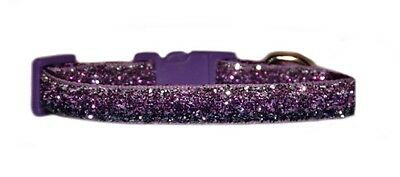 "lilac & purple sparkle chihuahua dog/puppy collar 6""-8"""