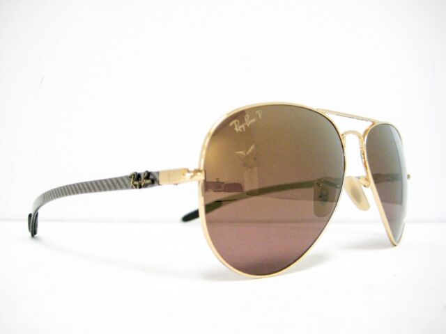 1b899317c87 new RAY BAN Sunglasses RB8317CH 001 6B Gold Gold Mirror Polarized Chromance  58mm