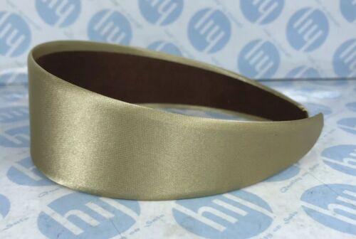 HEADBAND BRIGHT GOLD COLOUR 4.5cm WIDE SATIN FABRIC ALICE BAND HAIR HEAD