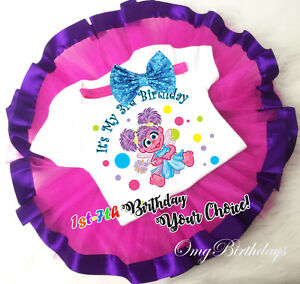 Details About 1st 7th Birthday Abby Cadabby Fairy Girl Tutu Shirt Outfit Custom Age Year Party