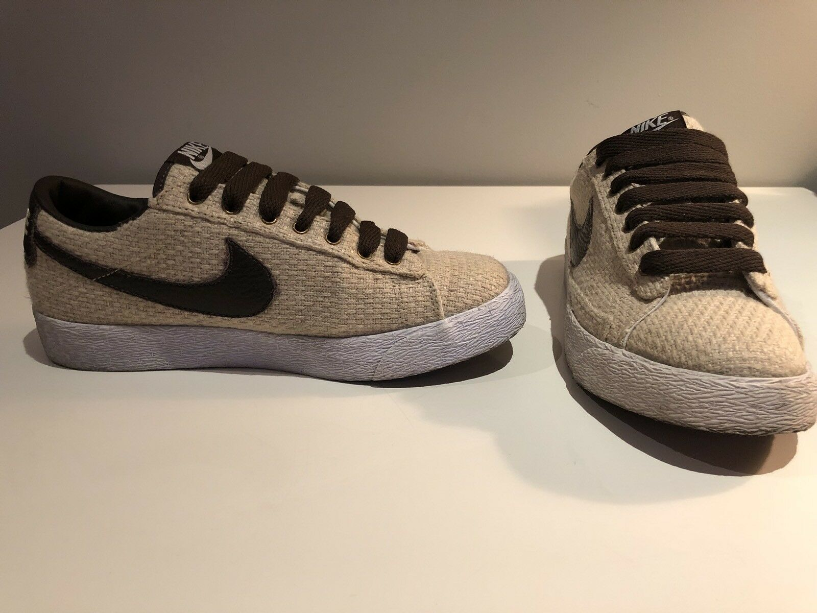 Nike Blazer Low Basic Brown and Cream Hemp Sneakers | Men's or Boy's Comfortable New shoes for men and women, limited time discount
