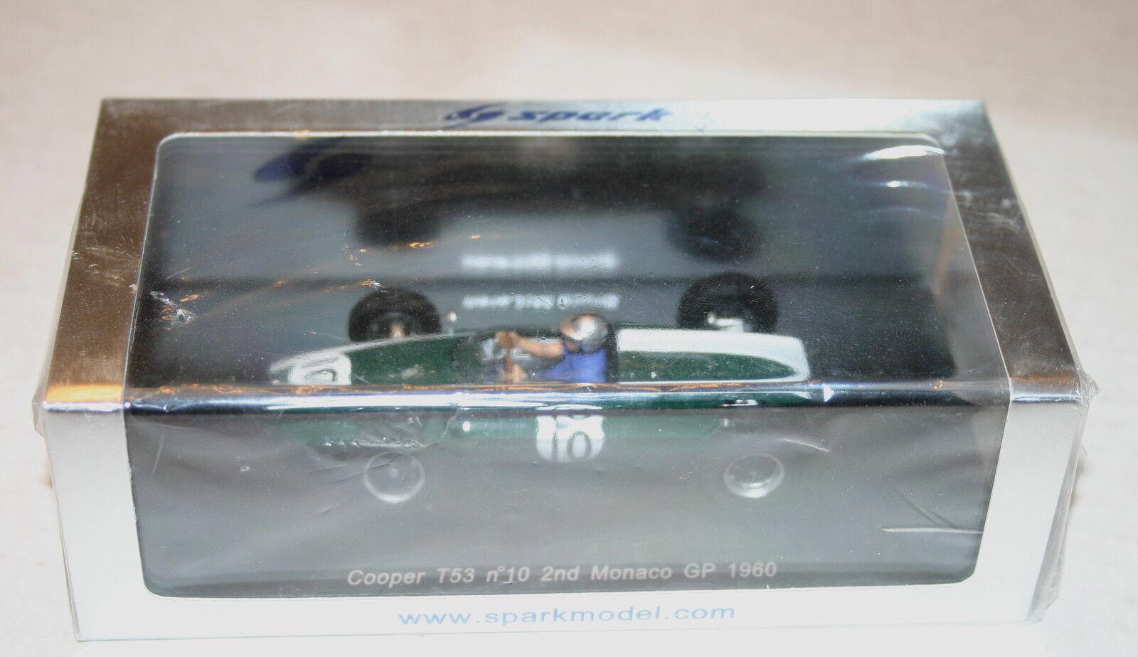 1 43 COOPER T53 ND MONACO GP 1960 F1 BRUCE MCLAREN SPARK MODELS
