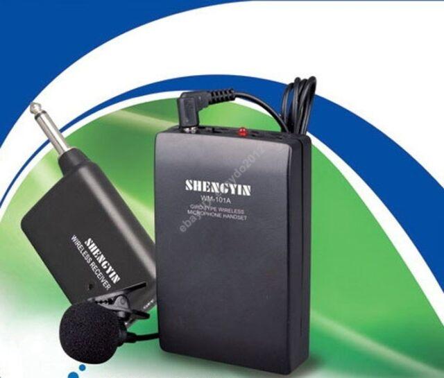 Mini Lavalier Mic Wireless Tie Lapel Microphones System