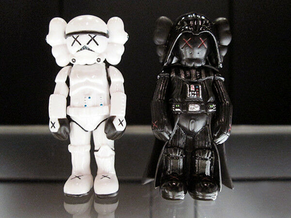 OriginalFake MINI STORMTROOPER + MINI DARTH VADER (KAWS VERSION) FIGURE 2pcs SET