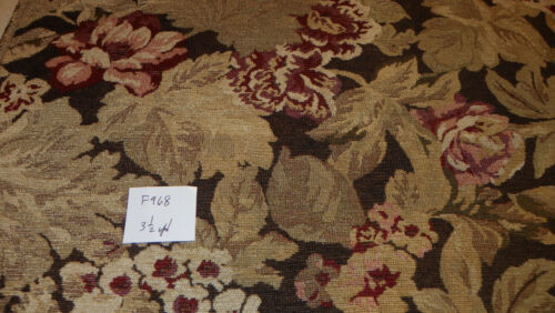 Brown Beige Red Tapestry Print Upholstery Fabric 1 Yard  F968
