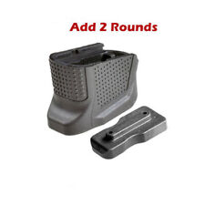 Glock 43 2 Grip Extension Add Capacity 2 Rounds 9mm Magazine Plate Extension