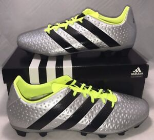 huge discount bf0ea 7c60a Details about Adidas Mens Size 12 Performance Ace 16.4 Fxg Soccer Cleats  Messi Shoes Silver