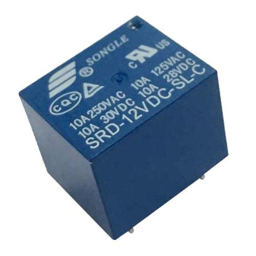 20 stücke SONGLE 12 V 1 CH Relais SRD 12VDC SL C 250 V AC 30 V 10A DC