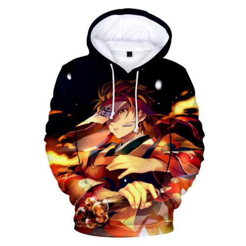 New Demon Slayer Kimetsu no Yaiba Kamado Nezuko Anime Hoodie Sweatshirt Jumper
